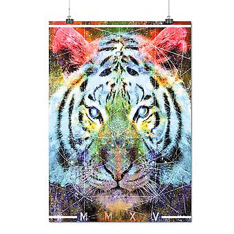 Matte or Glossy Poster with Tiger Urban Calm Animal | Wellcoda | *d2013