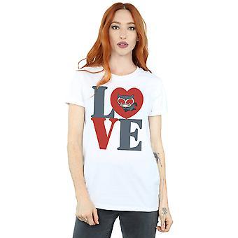 DC Comics Women's Chibi Catwoman Love Boyfriend Fit T-Shirt