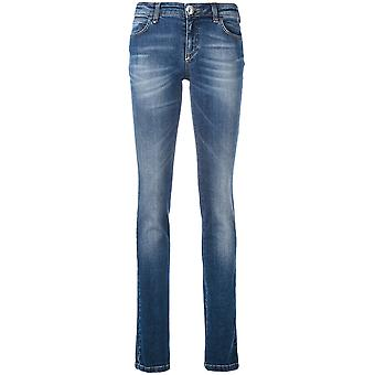 Philipp Plein ladies WDT0360PDE016N08AE Blau cotton of jeans
