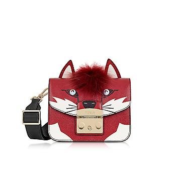 FURLA ladies 921335 red leather shoulder bag