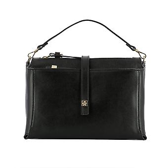 Giancarlo Petriglia women's 221EVARNERO black leather shoulder bag