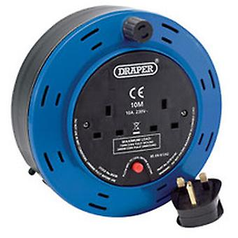 Draper 26338 10m 230V Twin Extension Cable Reel