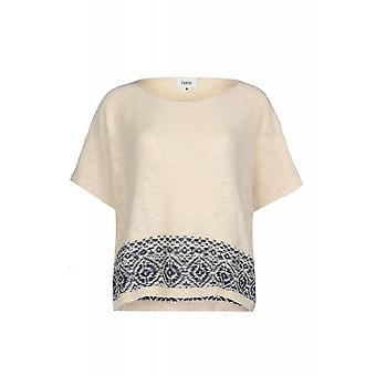 Heine sweater strik norsk sweater damer beige