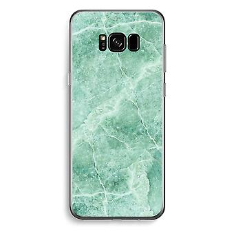 Samsung Galaxy S8 Plus Transparent Case (Soft) - Green marble