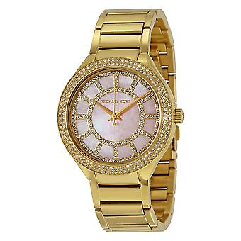 Michael Kors Kerry Ladies Watch Gold Bracelet Pink Dial MK3396