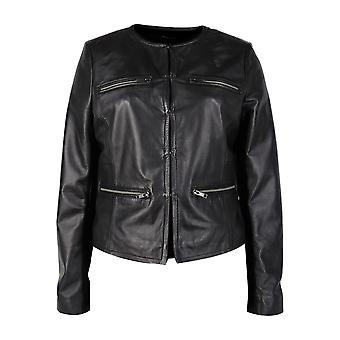 Womens Sleek Rider Leather Jacket