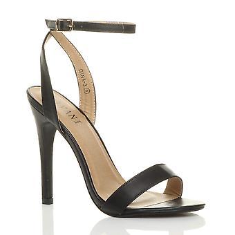 Ajvani dame høj hæl platform ankel rem knap der strappy sandaler sko