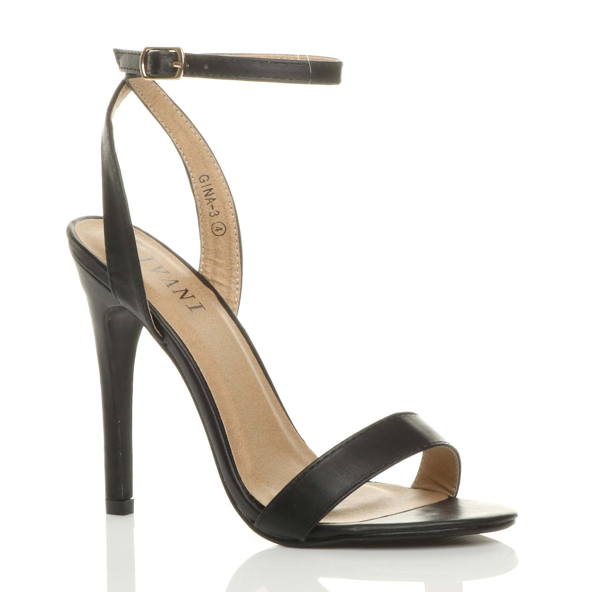 Ajvani womens high heel platform ankle strap shoes-Fashionable barely there strappy sandals shoes-Fashionable strap and Attractive Packages-Men's/Women's e7614e
