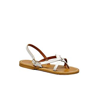K Jacques women's ODEONBLANC White Leather sandals
