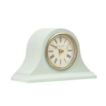London Clock 1922 12cm Heritage Catherine Sage Green Arch Top Mantel Clock
