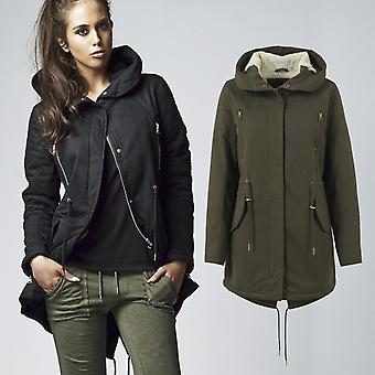 Urban classics ladies - SHERPA LINED COTTON PARKA coat