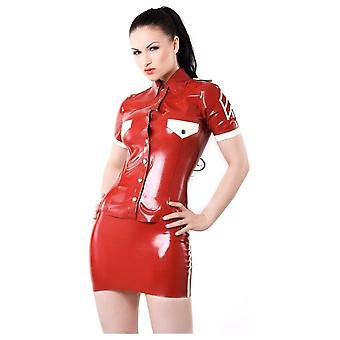 Westward Bound Patrol Girl  Latex Rubber Shirt.