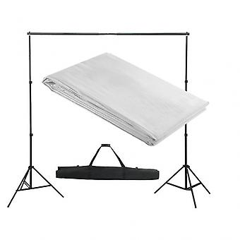 Kit complet studio photo + fond blanc sans coutures 3x3 m photo vidéo studio professionnel 1802012