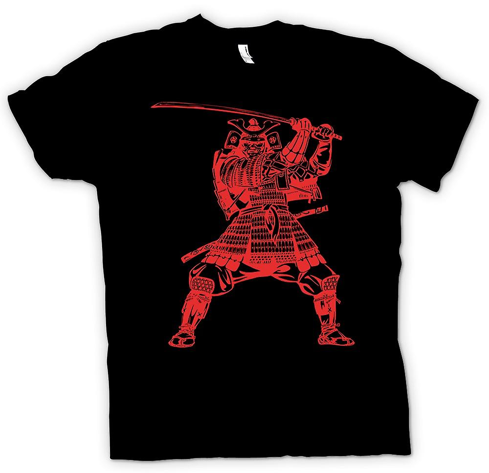 Herr T-shirt-Samurai Warrior