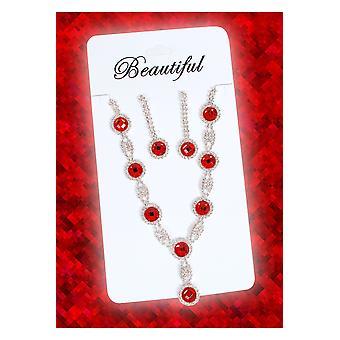Smycken och kronor Juwelen setje Princess rood
