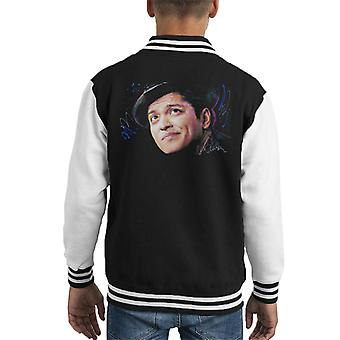 Sidney Maurer Original Portrait Of Bruno Mars Hat Kid's Varsity Jacket