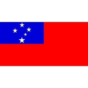 Samoas flagg 5 ft x 3 ft med hull For hengende