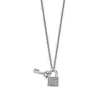 ESPRIT женщин цепи ожерелье серебро кубический цирконий Амор вокруг ESNL92218A420