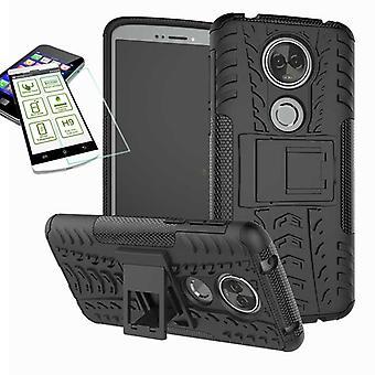 Для Motorola Moto E5 плюс Гибридная случай 2 кусок черный + пуленепробиваемые сумка чехол рукав