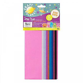 Craft Planet Tissue Paper (10 Assorted Colours)*