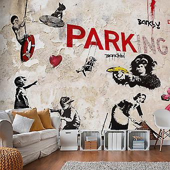 Tapet - [Banksy] Graffiti Collage