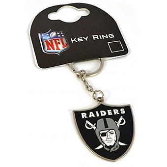 Oakland Raiders Nfl Metal / esmalte llavero. Producto con licencia oficial