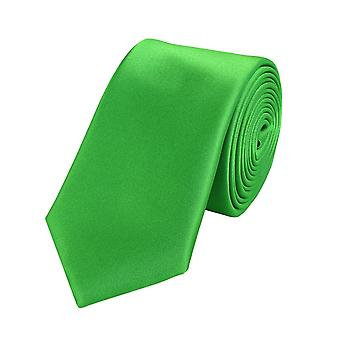 Knyta slips tie slips 6cm Green Apple green grass grön uni Fabio Farini