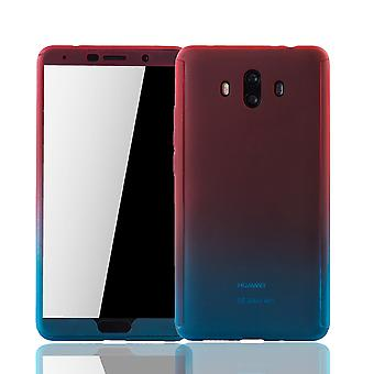 Huawei mate 10 mobile case protection-case full cover tank protection glass red / blue
