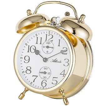 nostalgic alarm clock gold double Bell alarm clock mechanical