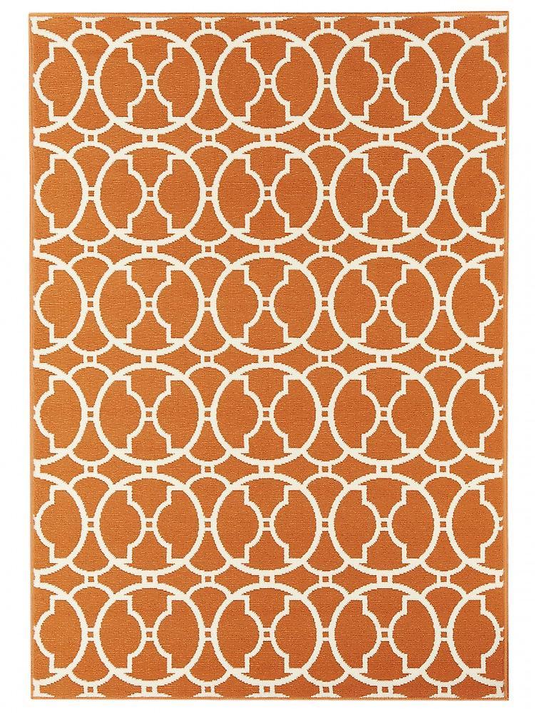 outdoor teppich f r terrasse balkon vitaminic interlaced orange 160 230 cm teppich indoor. Black Bedroom Furniture Sets. Home Design Ideas