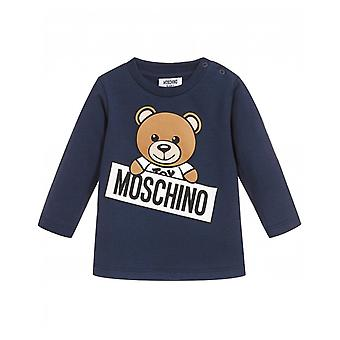 Moschino Toy Bear Logo Long Sleeved T-shirt