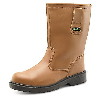 Click Thinsulate Safety Rigger Boot Tan S3 - Ctf28