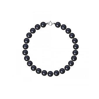 Bracelet Femme Perles de culture d'eau douce Noires AA et Fermoir Or Blanc 750/1000
