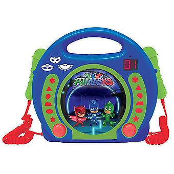 Lexibook RCDK100PJM PJ Masks Portable CD Player with Microphone