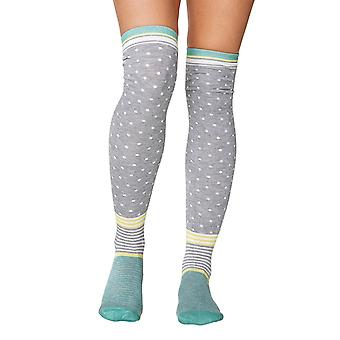Jemima women's soft bamboo over-the-knee socks in grey | By Thought