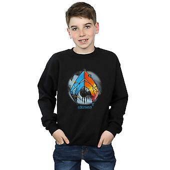 DC Comics Boys Aquaman Tropical Logo Sweatshirt