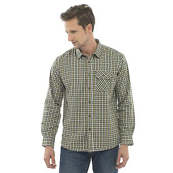 Walter Grange Mens Tattersall Fleece Lined Long Sleeve Shirt