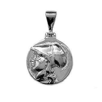 Pendentif en argent sterling Athéna déesse grecque, diamètre 20mm