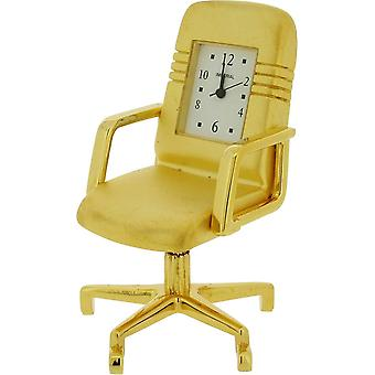 Gift Time Products Office Chair Miniature Clock - Gold