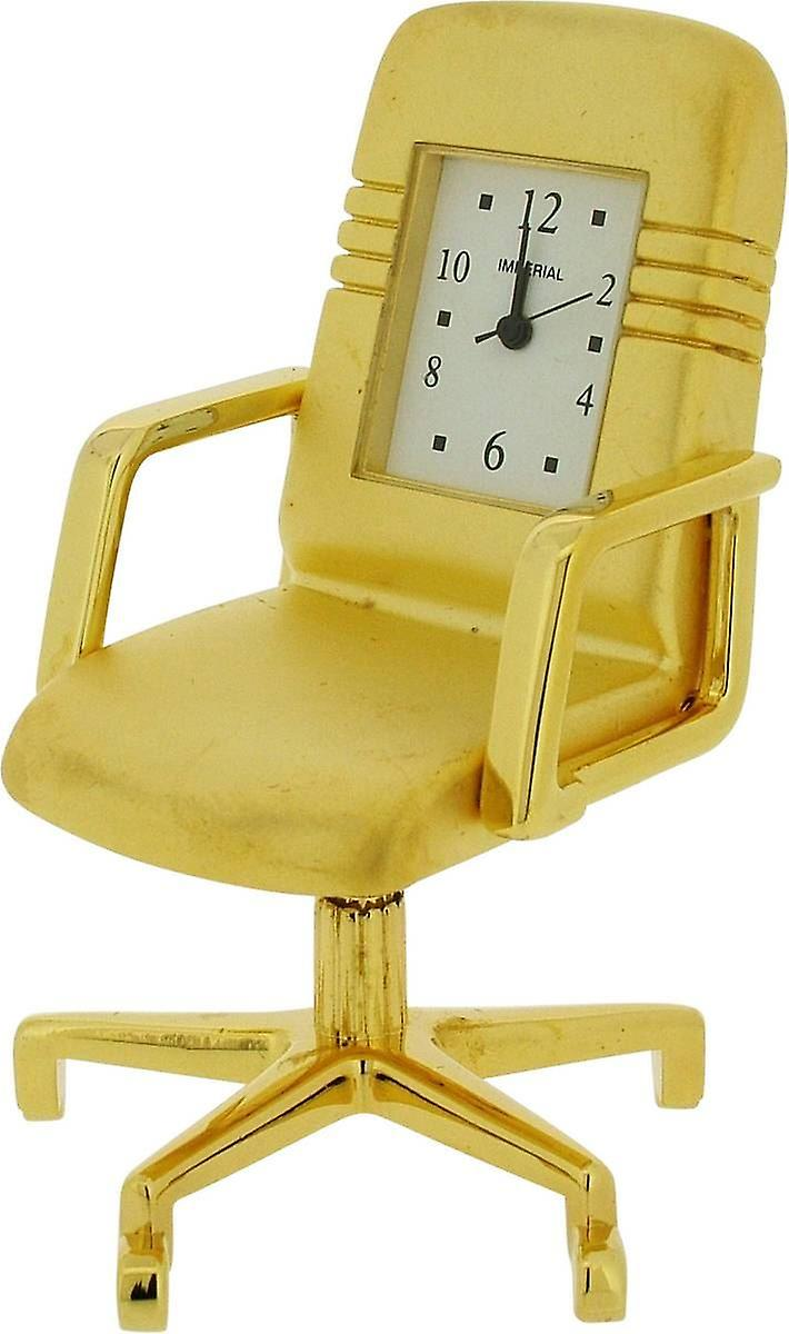 Chair ClockGold Office Gift Miniature Products Time c345RqjLA