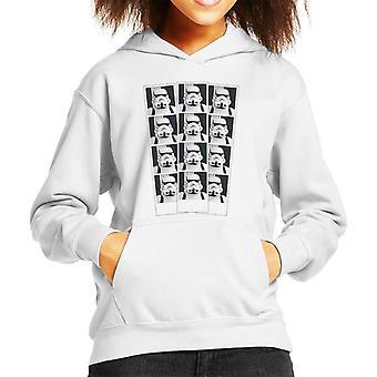 Original Stormtrooper Foto Booth Bild Streifen Kinder Sweatshirt mit Kapuze
