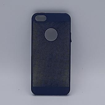 iPhone 5, 5s, SE case-solid blue wire mesh-look