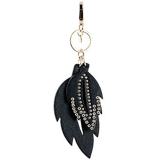 GUESS of fancy ladies leather Keychain black