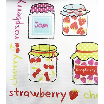 Country Club 100% Cotton Soft Absorbent Fruity Jam Novelty Printed Tea Towels