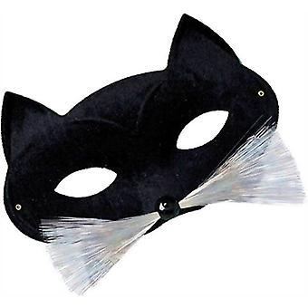 Katze Domino Augenmaske. Schwarz.