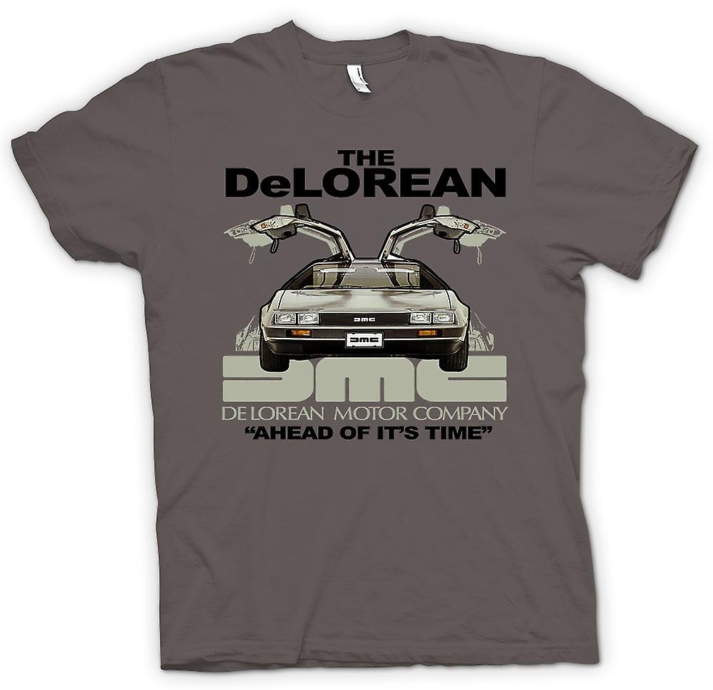 Mens T-shirt - DeLorean - avance sur son temps