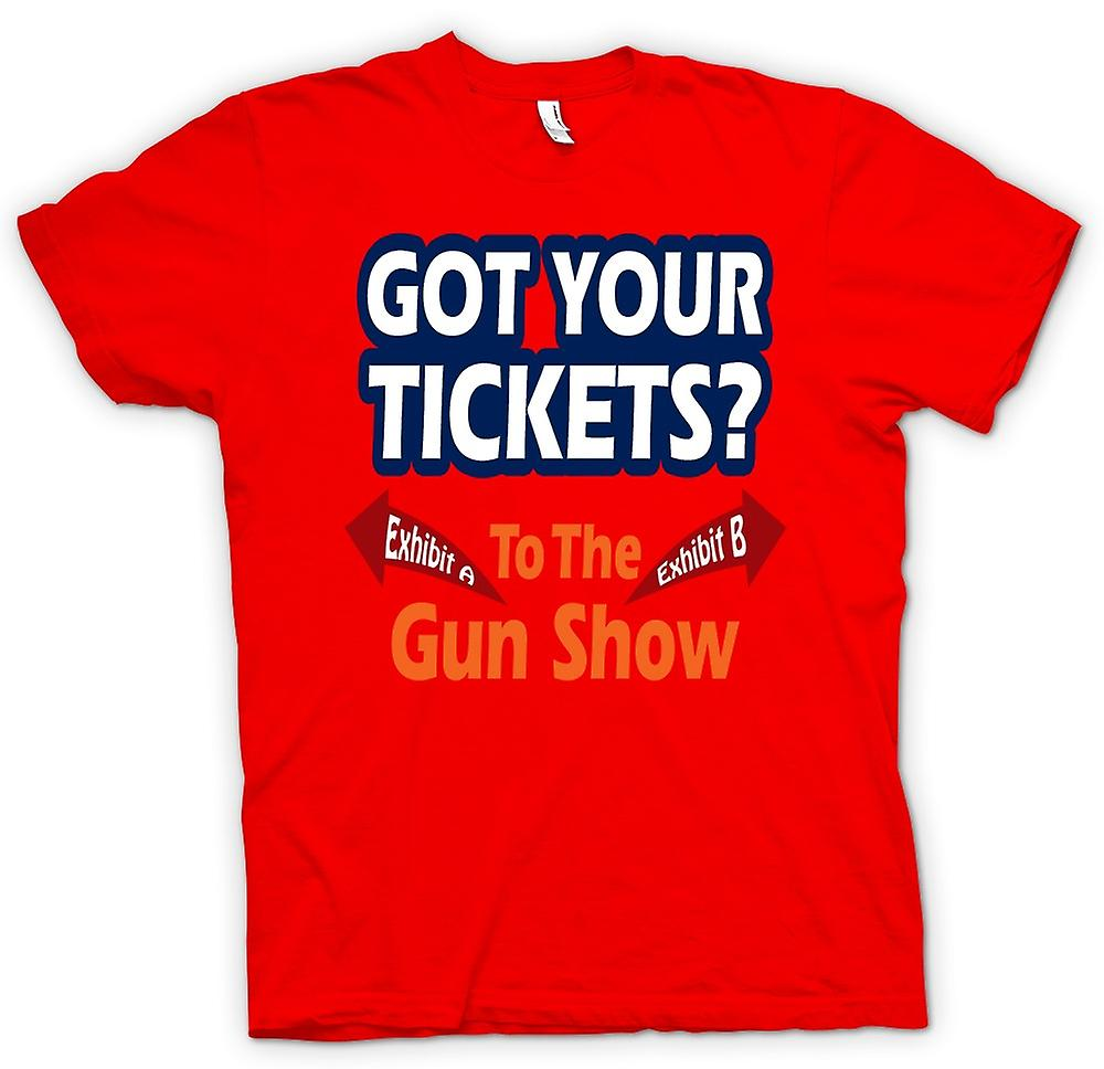 Heren T-shirt-Tickets voor pistool Show - Funny