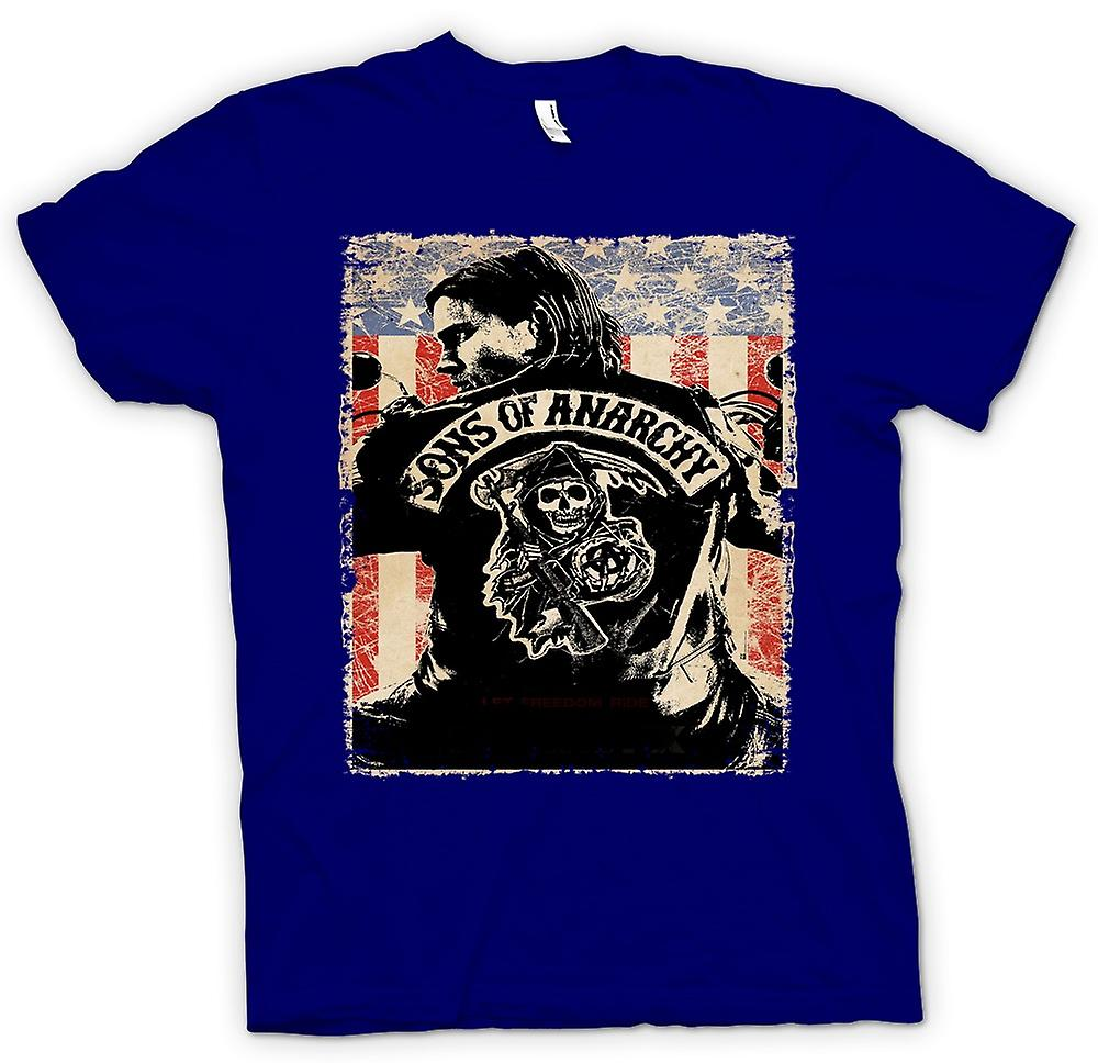 Herr T-shirt-Sons Of Anarchy - MC-gäng - TV affisch