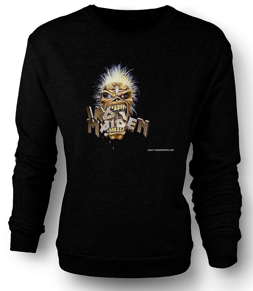 Mens Sweatshirt Iron Maiden - Eddie Eating Words