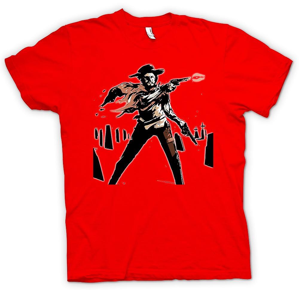 Hombres camiseta-Spaghetti Western - vaqueros - bosquejo